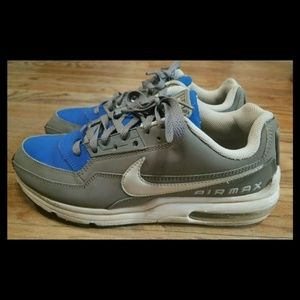 NIKE AIR MAX LTD 3 MENS GRAY/ HYPER BLUE SHOES 9